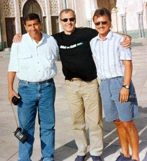 Michael Krüger (rechts) mit Co-Trainer Mohammed ab Samir und Manager Mister Gamal (v.l.n.r.)
