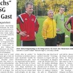 Artikel: Trainerfuchs bei der SG